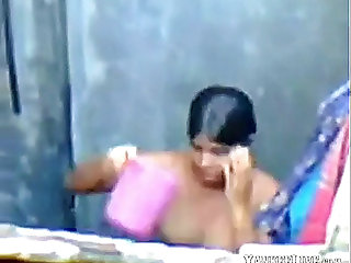 Barishal cutie bathing after masturbation