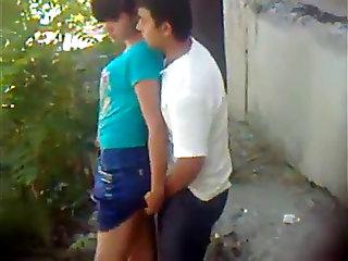 Public sex youthful pair