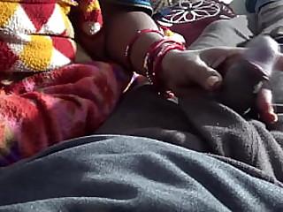 Mother also grabs son's cock