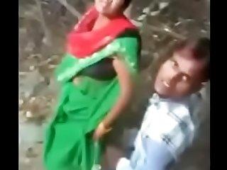 Desi village bhabhi caught with her dever